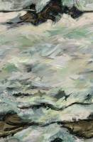 Whitewater Rocks-Abstract Seascape Painting