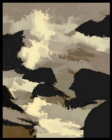 Rocky Ocean Abstract