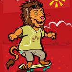"""skateboarding Lion"" by martindavey"