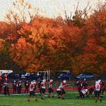 """Autumn Football with ""Sponge Painting"" Effect"" by Ffooter"