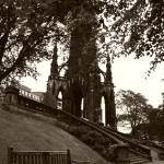 """Scott Monument and Bench"" by allanpriceimages2"