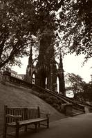 Scott Monument and Bench