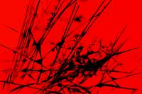 Strike Out Red and Black Abstract