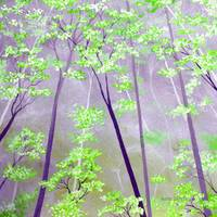 Purple & Green Forest