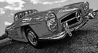 1959 Mercedes Benz 300 SL - B&W