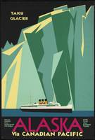 Alaska Via Canadian Pacific Vintage Retro Travel P