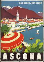 Ascona Vintage Retro Travel Poster