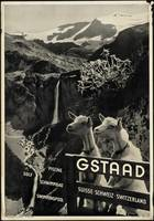 Gstaad Vintage Travel Poster Ad Retro Prints