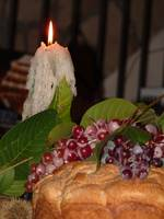 Candle and Grapes