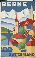 Berne Switzerland Vintage Travel Poster Ad Retro P