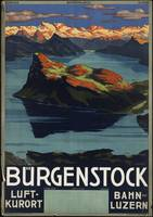 Bürgenstock Switzerland Vintage Travel Poster Ad R
