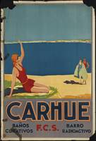 Carhue Buenos Aires Vintage Travel Poster Ad Retro