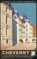 Cheverny France Vintage Travel Poster Ad Retro Pri