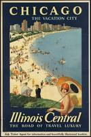 Chicago Illinois Vintage Travel Poster Ad Retro Pr