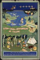 Canada and Newfoundland Vintage Travel Poster Ad R