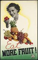 Eat More Fruit Vintage Food Poster Ad Retro Prints