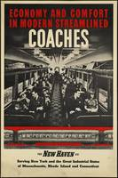 Coaches Train Vintage Travel Poster Ad Retro Print