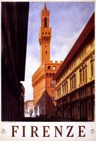 Firenze Florence Italy Vintage Travel Poster Ad Re