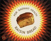 Raisin Bread Vintage Poster Ad Retro Prints