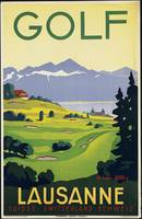 Golf Lausanne Vintage Travel Poster Ad Retro Print