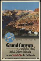 Grand Canyon Vintage Travel Poster Ad Retro Prints