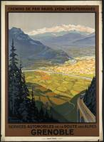 Grenoble Vintage Travel Poster Ad Retro Prints