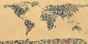 Paint splatter world map 1