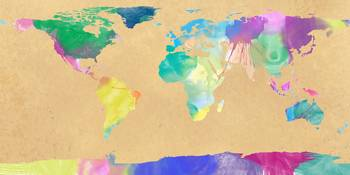 watercolor world map 1