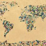 """""""Paint splatter world map 2"""" by gsquared"""