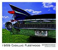 1959 Cadillac Fleetwood - Black - Border