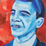 """Blue Barack Obama"" by megancoyle"