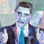 """""""Blue Barack Obama"""" by megancoyle"""