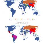 """World Map of Social Networks 2009-2012"" by vincos"