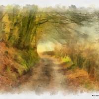 Exmoor Track Art Prints & Posters by Mike Davey