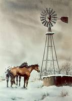 OLD WINDMILL by SHARON SHARPE