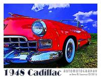 1948 Cadillac Convertible - Red - Border