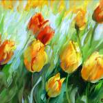 """Golden Glow Tulips"" by BCArt"