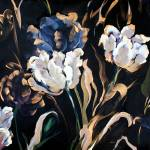 """Metallic & White Tulips"" by BCArt"