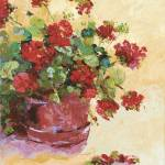 """Pot of Red Geraniums"" by BCArt"