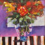 """""""Coral Rose with Stripes"""" by BCArt"""