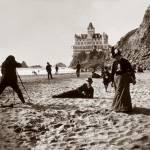 """Cliff House Beach Scene c1890"" by worldwidearchive"