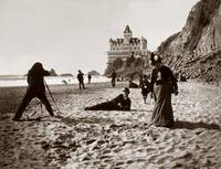 Cliff House Beach Scene c1890