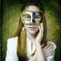 Girl With the Mask Art Prints & Posters by Arunas Sileika