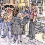 """Turiste a Venezia"" by lucamassonedisegni"
