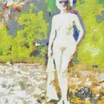 """Nude in Sunglasses ~ Diane Arbus Impression"" by leapdaybride"
