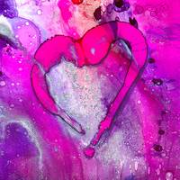 Pink Abstract Valentine Heart