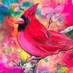 """Pink Cardinal for my Love, Art by GG Burns"" by ggsfunctionalart"