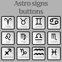 astro signs buttons