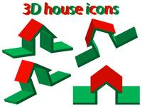 3d house icons