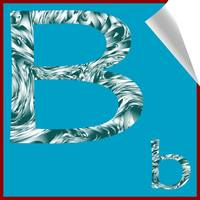 alphabet letter B sticker